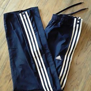 Adidas tear away pants, navy blue